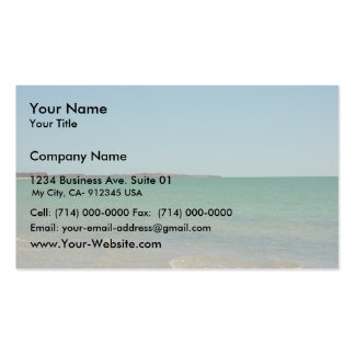 Point Peron Viewed Across Herald Bight, Francois P Double-Sided Standard Business Cards (Pack Of 100)