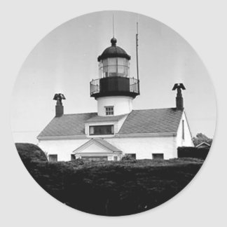 Point Pinos Lighthouse Classic Round Sticker