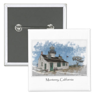 Point Pinos Pacific Grove Monterey California Pinback Buttons