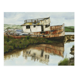Point Reyes Boat - Mini Collectible Prints Post Cards