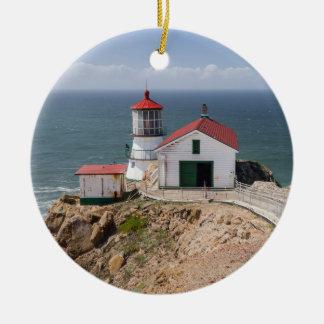 Point Reyes Lighthouse, Marin County, California Christmas Tree Ornament