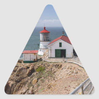 Point Reyes Lighthouse, Marin County, California Triangle Sticker