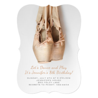 Point Shoes Birthday Invitations