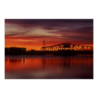 Point Street Bridge Sunrise Poster