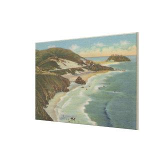 Point Sur, Carmel San Simeon Section, Hwy 1 View Canvas Print