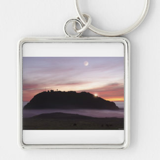 Point Sur Moon Square Keychain
