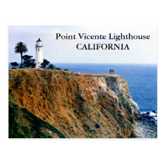 Point Vicente Lighthouse, California Postcard at Zazzle