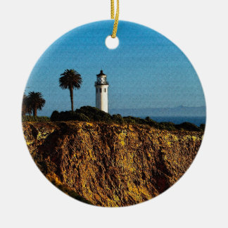 Point Vicente Lighthouse Christmas Ornament