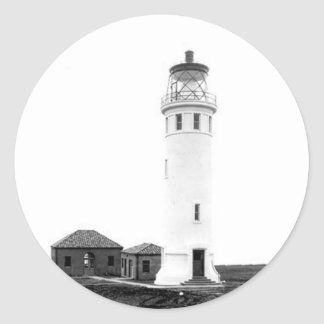 Point Vicente Lighthouse Classic Round Sticker