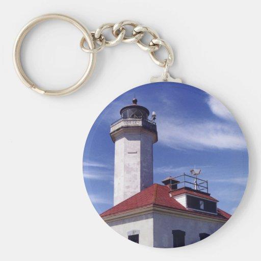 Point Wilson Lighthouse Basic Round Button Keychain