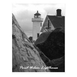 Point Wilson Lighthouse, Port Townsend, Oregon Postcard