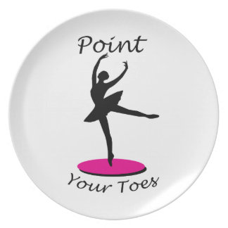 Point your Toes Party Plate