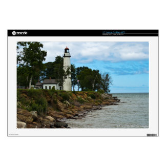 """Pointe Aux Barques Lighthouse 17"""" Laptop Decal"""