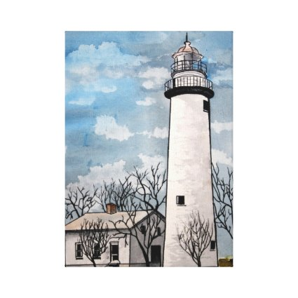 Pointe aux Barques lighthouse michigan Canvas Print