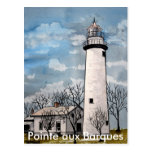 Pointe aux Barques lighthouse port hope michigan Postcard
