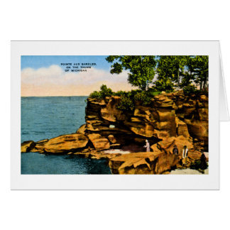 Pointe Aux Barques of the Thumb of Michigan Greeting Card