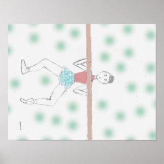 Pointe de trabajo de la muñeca de la bailarina póster