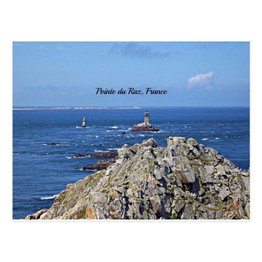 Pointe du Raz, Francia Tarjeta Postal