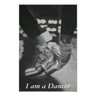 Pointe , I am a Dancer Print