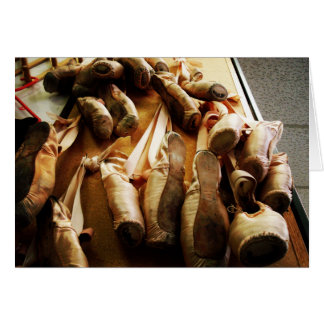 Pointe Shoe Note Cards