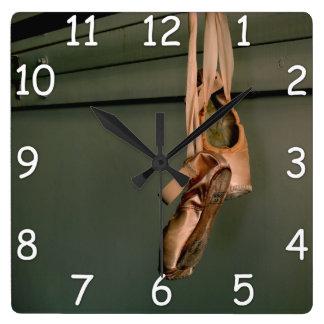 Pointe Shoe Wall Clock