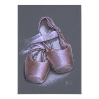 Pointe shoes 5x7 paper invitation card