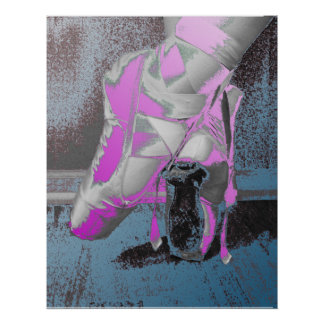 Pointe Shoes Ballet Dance Poster
