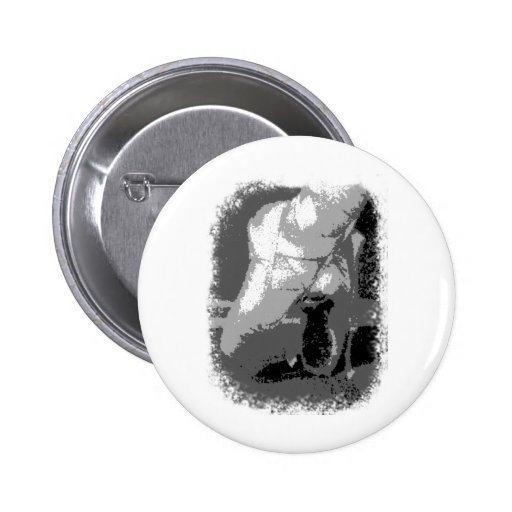Pointe Shoes Dancer Black and white 2 Inch Round Button