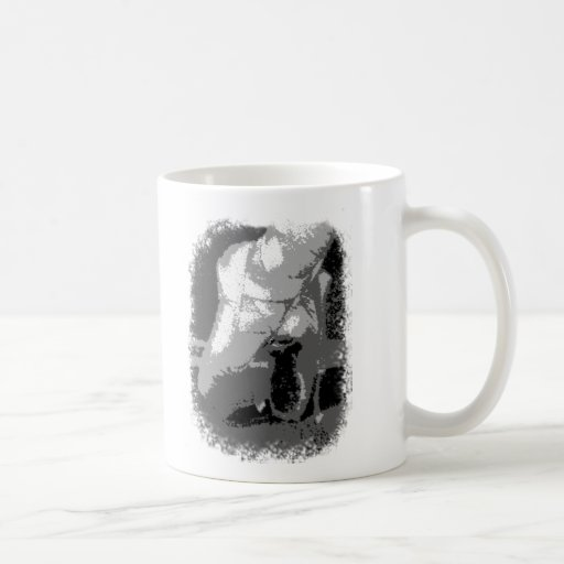 Pointe Shoes Dancer Black and white Coffee Mugs