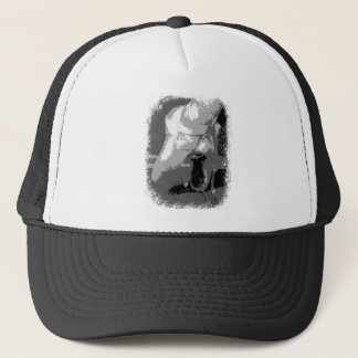 Pointe Shoes Dancer Black and white Trucker Hat