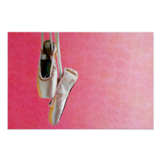 Pointe Shoes in Pink — Poster