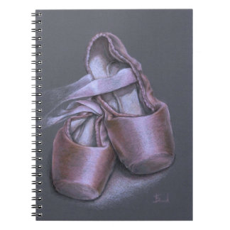 Pointe shoes spiral note book