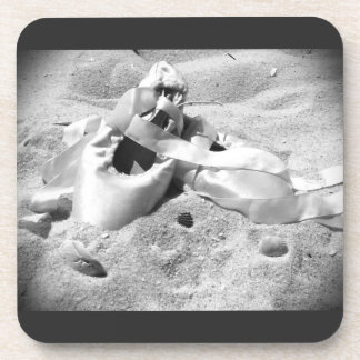 Pointe Shoes on the Beach Beverage Coaster