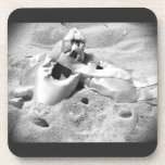 Pointe Shoes on the Beach Drink Coasters