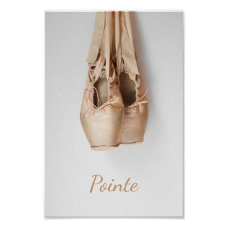 Pointe Shoes Poster
