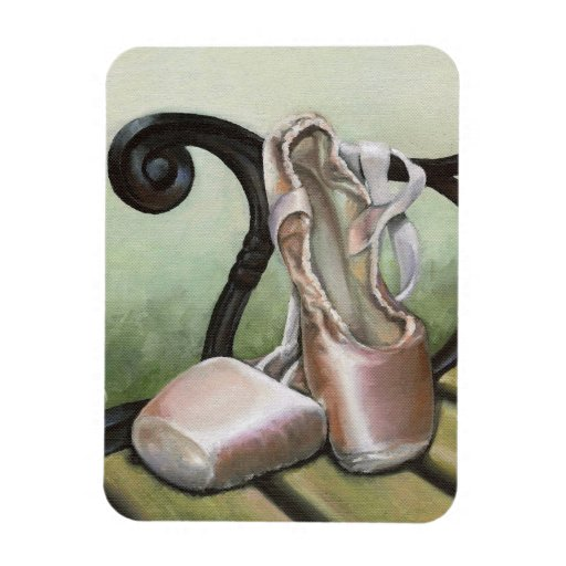 Pointe Shoes Rectangular Photo Magnet