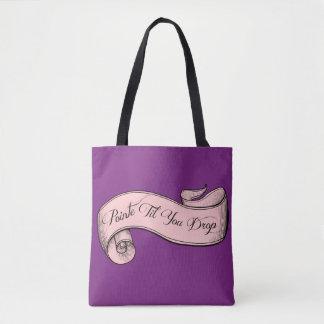 Pointe Til You Drop Ballet Bag in Orchid Tote Bag