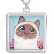 Pointed Birman Cat Necklace