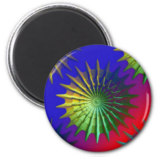 Pointed Discs 2 Inch Round Magnet