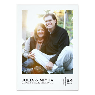 Pointed Frame Photo Card Vertical Save the Date