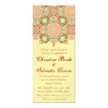Pointed Intricate Arabesque, 4x9.25 engagement Invitation