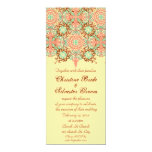 Pointed Intricate Arabesque, 4x9.25 wedding Invitation