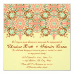 Pointed Intricate Arabesque, 5.25x5.25 engagement Invitation