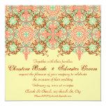 Pointed Intricate Arabesque, 5.25x5.25 wedding Invitation