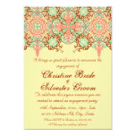 Pointed Intricate Arabesque, 5x7 engagement Invitation