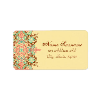 Pointed Intricate Arabesque, address labels