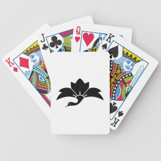 Pointed-leaf crane-shaped rhombic flower bicycle playing cards