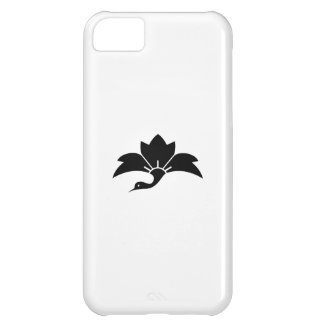 Pointed-leaf crane-shaped rhombic flower iPhone 5C case