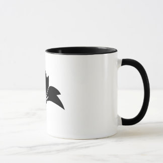 Pointed-leaf crane-shaped rhombic flower mug
