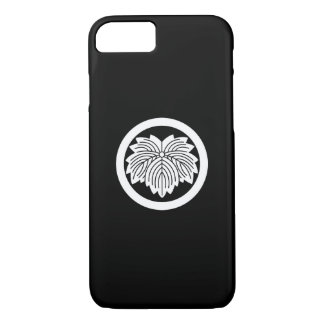 Pointed-leaf ivy in circle iPhone 8/7 case